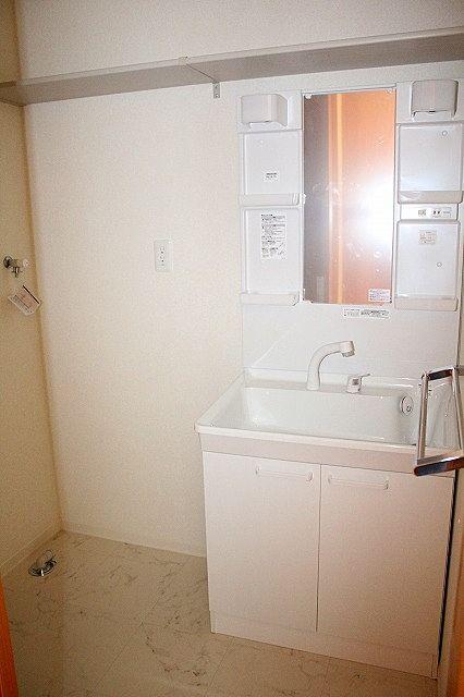 脱衣所 シャワー付き洗面台、洗濯機置き場