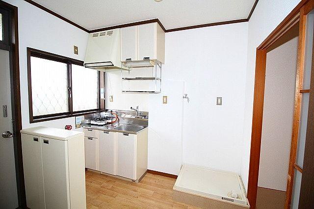 キッチン 洗濯機置き場