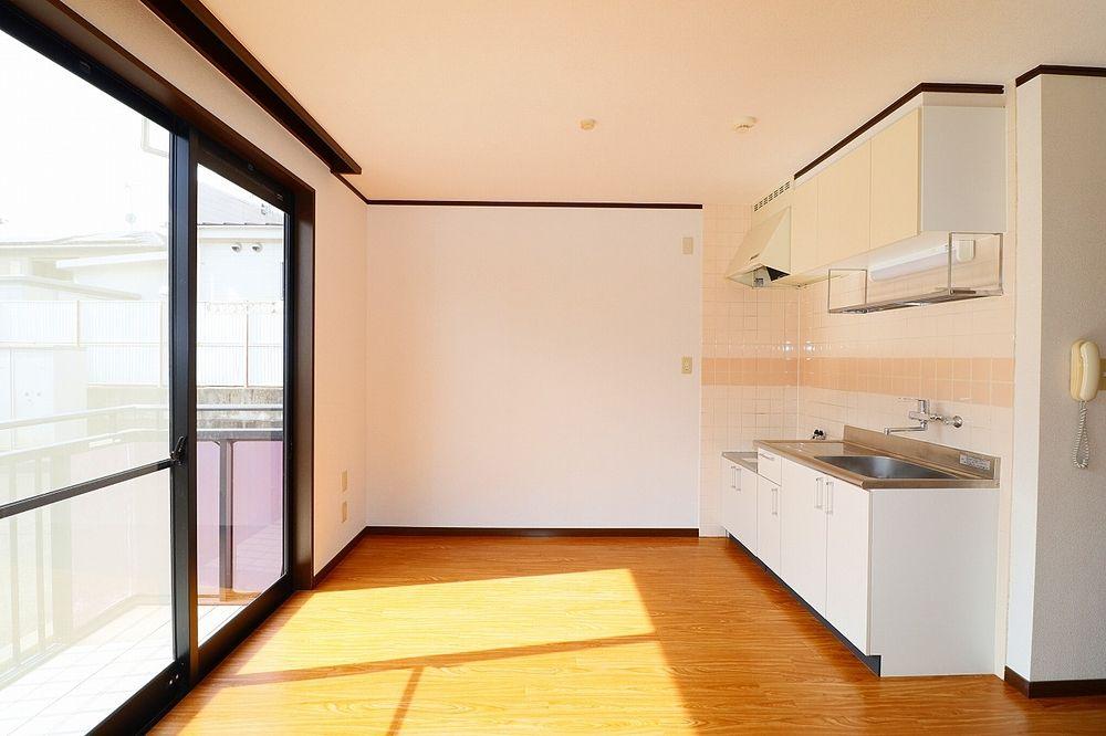 作業スペースが広いキッチンはうれしいポイント!