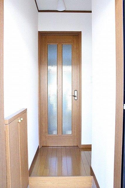 玄関を開けても室内が見えません